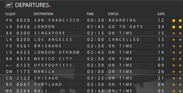 Videohive Airport Departure Board.121766