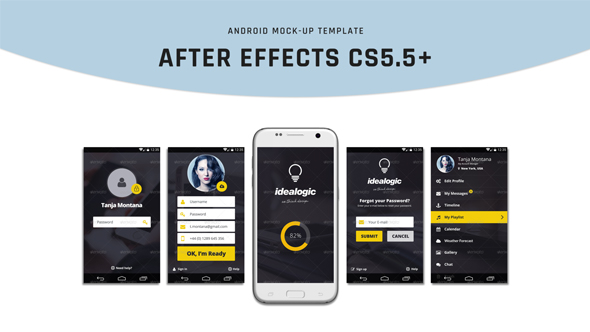 Videohive Android Mock-Up 19591922
