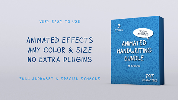Videohive Animated Handwriting Bundle 21054513
