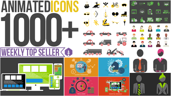 Videohive Animated Icons 1000+ 8922626