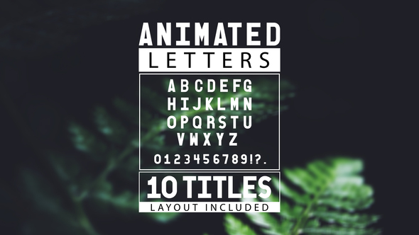 Videohive Animated Letters 10 Titles Layout 19413127