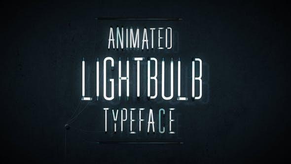 Videohive Animated Lightbulb Typeface 18398522