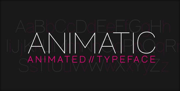 Videohive Animatic - Animated Typeface 7888603