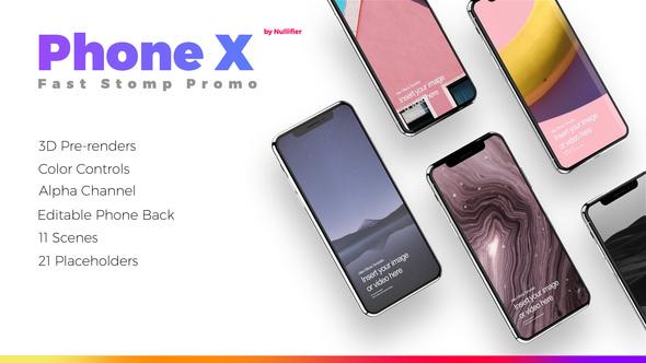 Videohive App Promo Stomp - Phone X 22409289