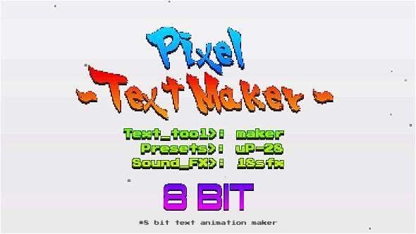 Videohive Arcade Text Maker 8bit Glitch Titles 20774500