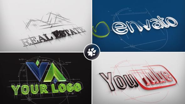 Videohive Architect Sketch Logo 19615545