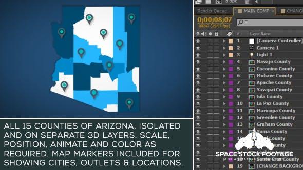 Videohive Arizona Map Kit 19290406