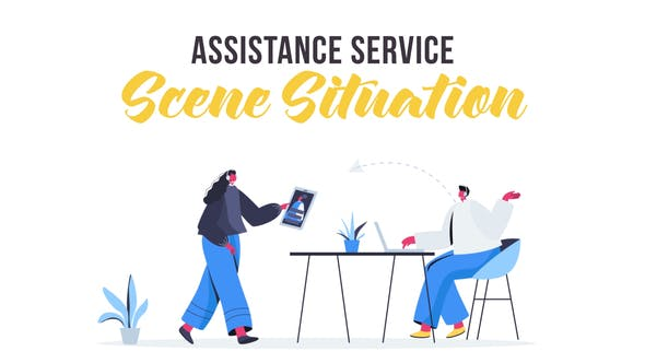 Videohive Assistance service - Scene Situation 28435428
