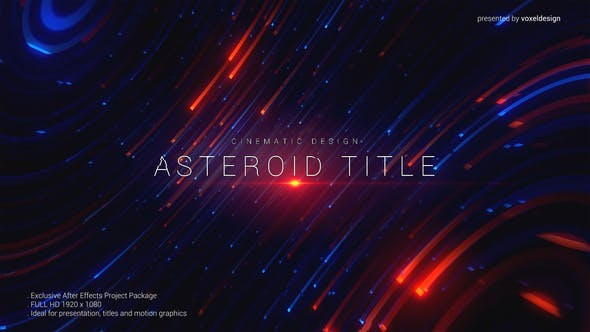Videohive Asteroid Cinematic Title 24548695