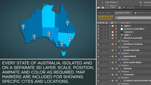 Videohive Australia Map Kit 15885123
