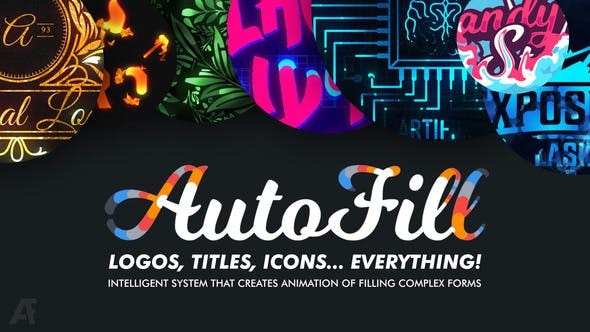Videohive AutoFill - Automatically Animate Titles Logo Reveals Animate Icons 25015480