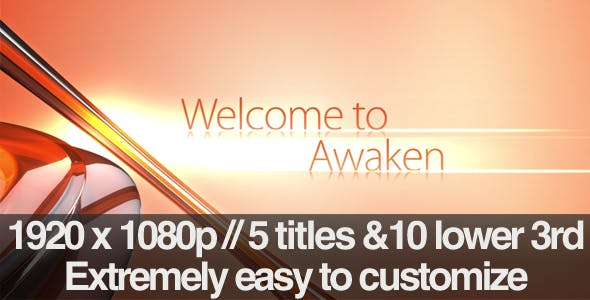 Videohive Awaken - Section Titles Lower 3rds Pack 201435