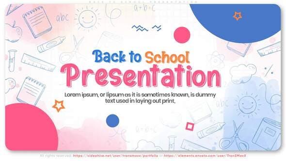 Videohive Back To School Presentation 28641993