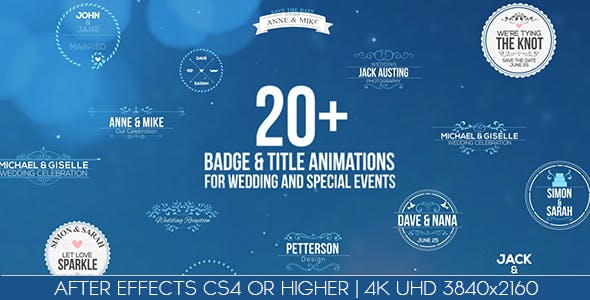 Videohive Badges Title Animations For Wedding And Special Events 14686685