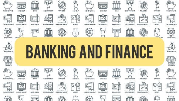Videohive Banking And Finance - Outline Icons 21291108