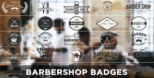 Videohive Barbershop Badges 15166956