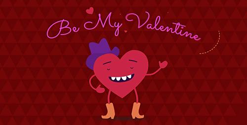 Videohive Be My Valentine Cartoon Greeting