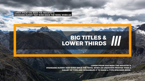 Videohive Big Titles Lower Thirds III 22107887
