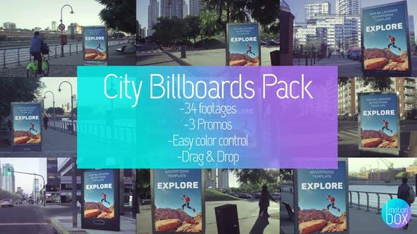 Videohive Billboards City Mockup Pack 23726584