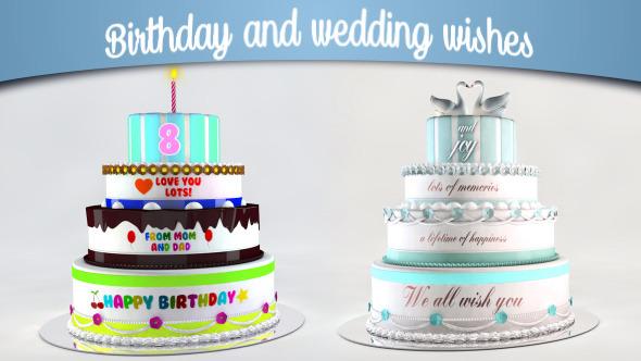 Videohive Birthday and Wedding Wishes 12839150