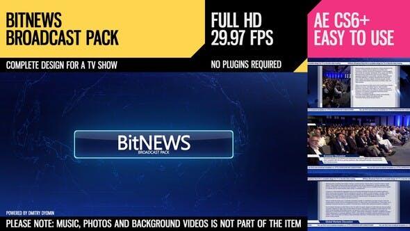 Videohive BitNews (Broadcast Pack) 14355327