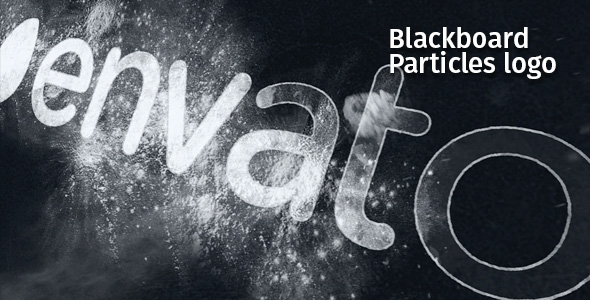 Videohive Blackboard Particles Logo 19513033