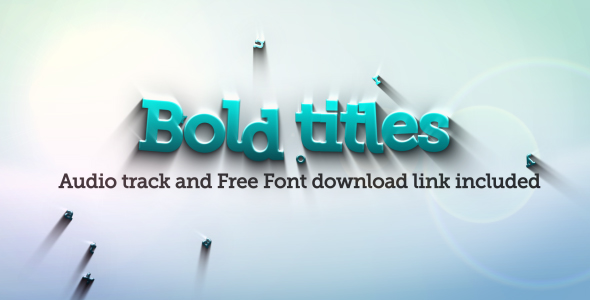 Videohive Bold Titles Logo Revealer 117278