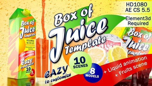 Videohive Box of Juice Template 15577952