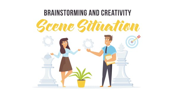 Videohive Brainstorming and creativity - Scene Situation 27597210