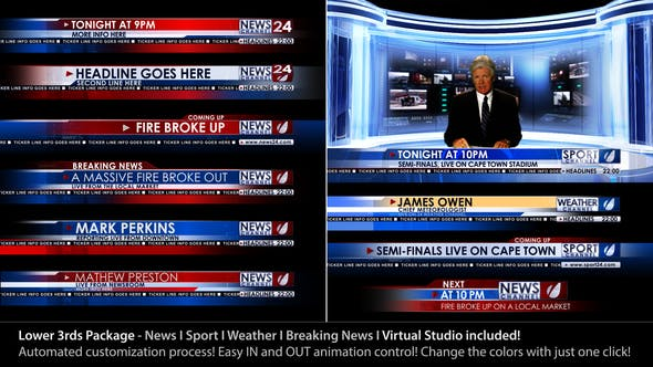 Videohive Broadcast Design - News Lower Third Package1 3365201