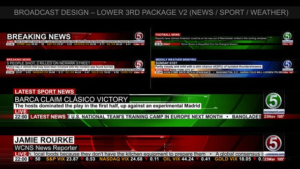 Videohive Broadcast Design - News Lower Third Package2 6821109