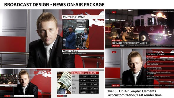 Videohive Broadcast Design - News On-Air Package 4410055