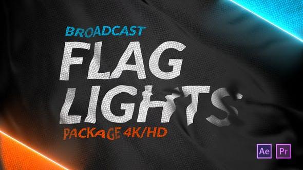 Videohive Broadcast Flag Lights 25288301