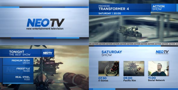 Videohive Broadcast Lines Pack 5721840