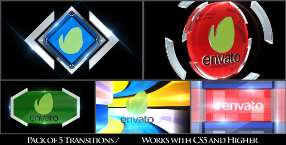 Videohive Broadcast Logo Transition Pack V3 11091136