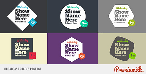 Videohive Broadcast Shapes Package