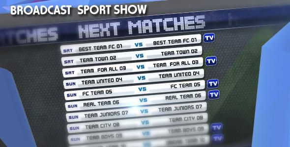 Videohive Broadcast Sport Show 3083003