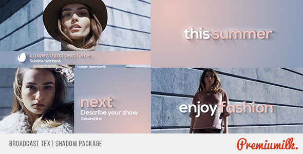 Videohive Broadcast Text Shadow Package 10648578