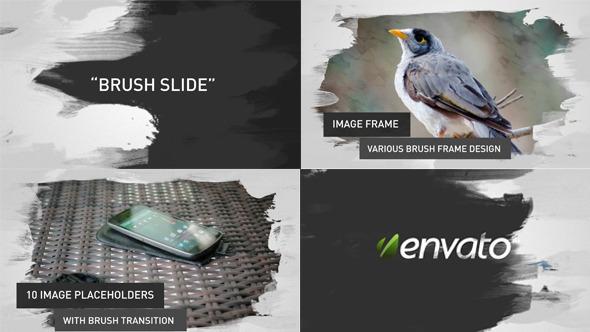 Videohive Brush Image-Video Slides - 4045937
