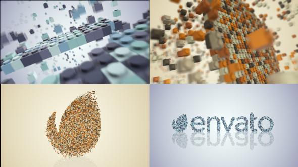 Videohive Building Blocks Logo Build 21068756