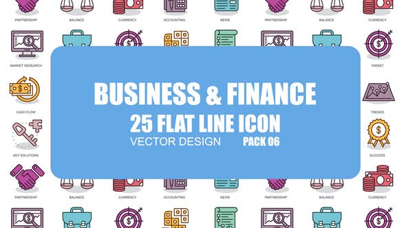 Videohive Business And Finance - Flat Animation Icons 23370374