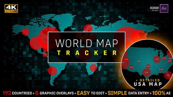 Videohive COVID-19 Coronavirus Pandemic Tracker  World Map USA Map Population 25980181