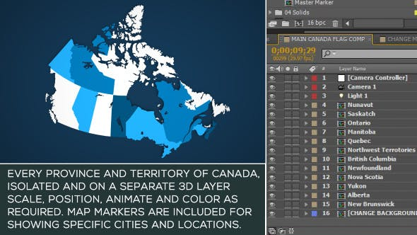 Videohive Canada Map Kit 15856796