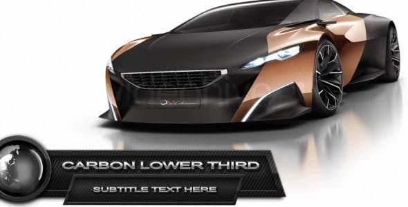 Videohive Carbon Lower Third 4015501