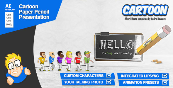 Videohive Cartoon Paper Pencil Presentation 3249175