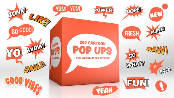 Videohive Cartoon Pop-Ups 27977040