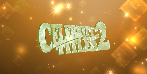 Videohive Celebrity Titles 2.221624