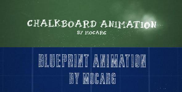Videohive Chalkboard and Blueprint Presentation 2742665