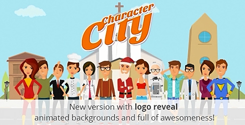 Videohive Character City V2-Explainer-Animation Video ToolKit
