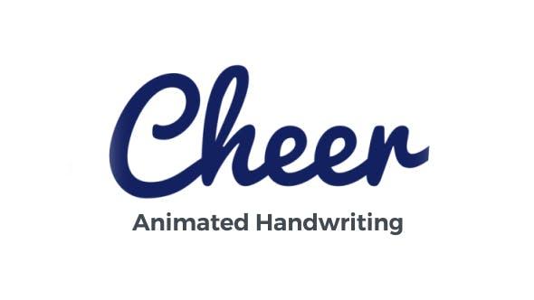 Videohive Cheer - Animated Handwriting Typeface 20929630